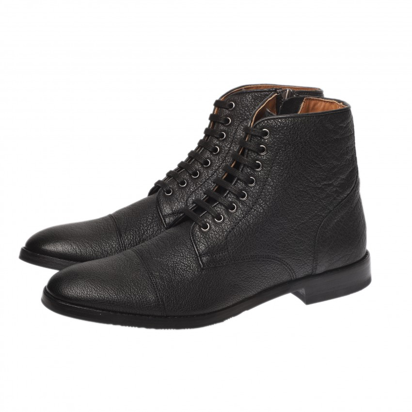 ALESSIO A151656 washed leather BLACK
